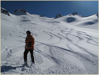 Heliskiing Patagonia High Andes backcountry skiing trip