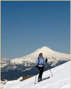 Volcanoes ski touring trips in Patagonia argentina South America