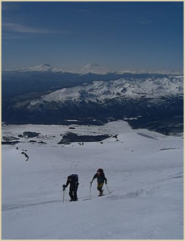 Puyehue volcano - Chile mountaineering trip in the Andes