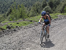 Chile Volcanos, Crossing the Andes mountain bike trip