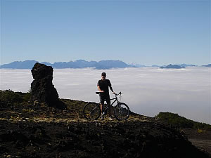 Crossing the Andes mountain bike tour