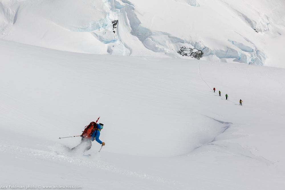 skiing skis antarctica