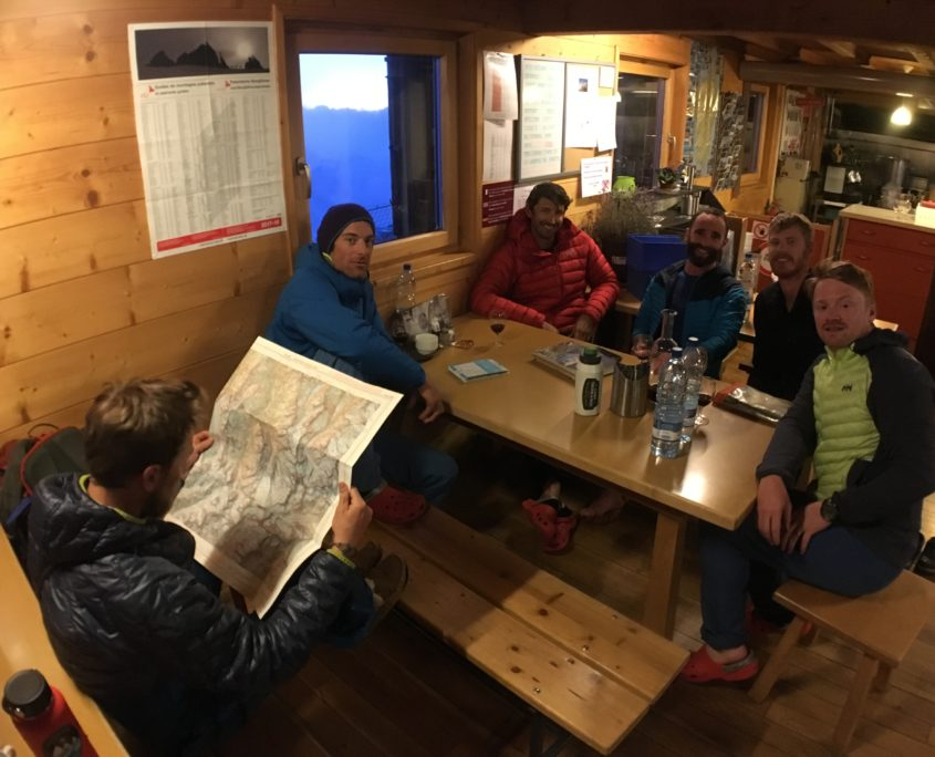 haute route ski touring mountain guides