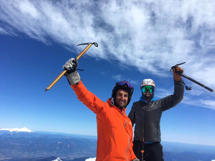volcanoes ski trip chile, chile , patagonia, argentina, backcountry trips, ski trips, ski touring trips