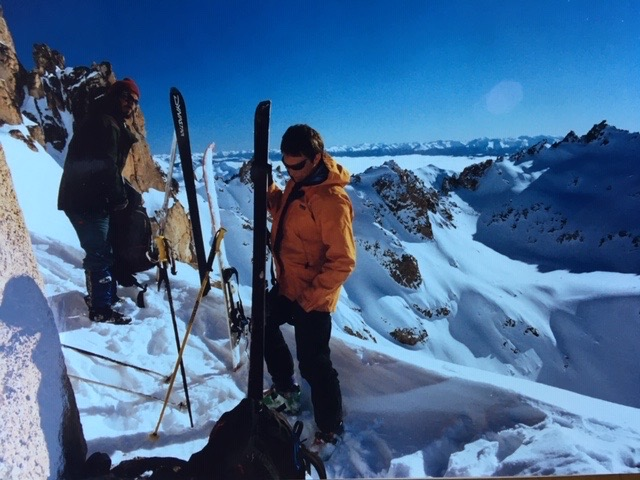 ski patagonia, ski bariloche, skiing frey hut, refugio frey, pedro luthi, jorge kozulj, guiding, mountain guides, ski guides argentina, retro ski pictures