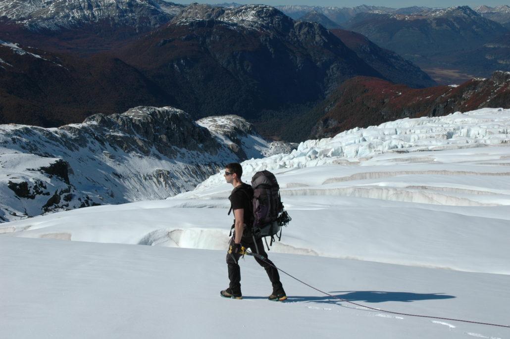 paso de las nubes, otto meilling, glaciar alerce, lago frias, mountain guides