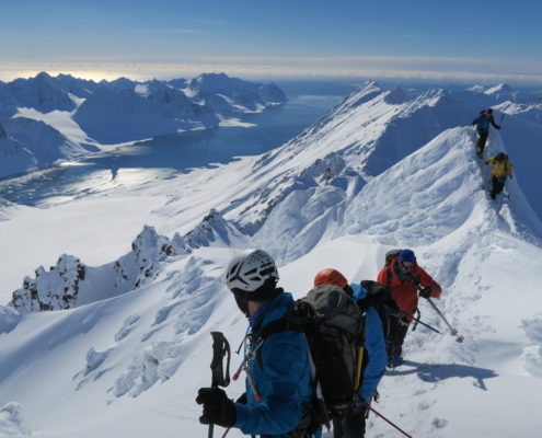 ski touring arctic circle